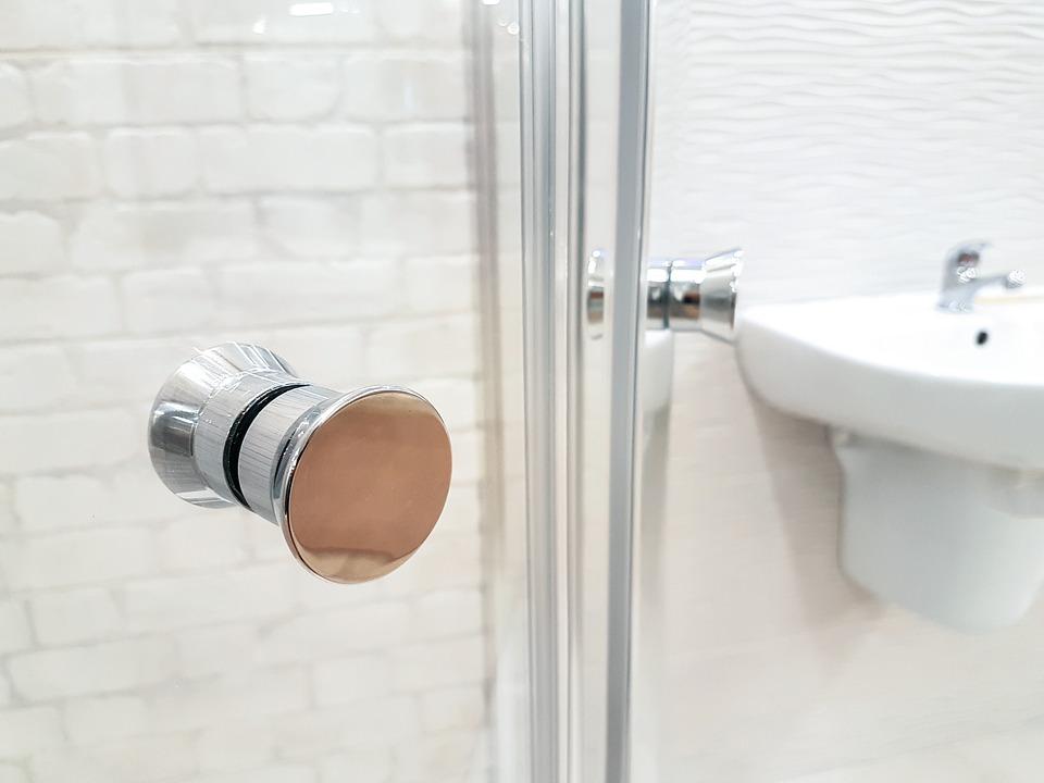 Charnière inox pour porte de douche en verre